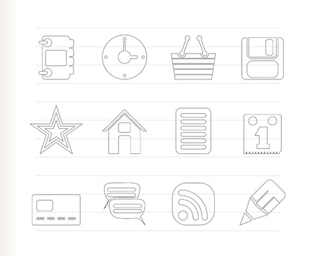 Internet and Website Icons - Icon Set Stock Vector - 7281274