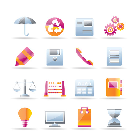 Business and Office internet Icons Stock Vector - 7337881