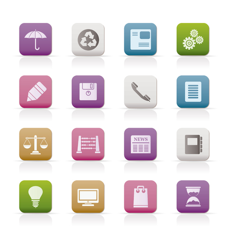 Business and Office internet Icons Stock Vector - 7337866