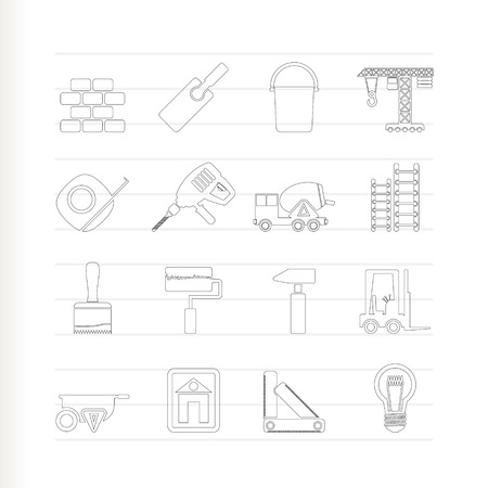 stepladder: Construction and Building icons