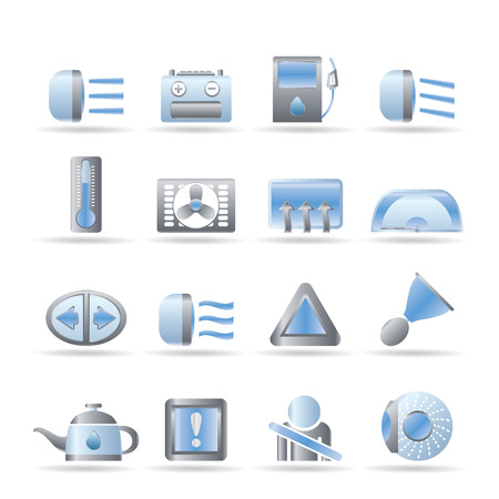 coupling: Car Dashboard - realistic icons set