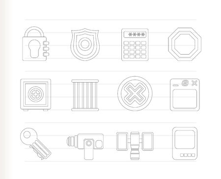 Security and Business icons - icon set Vector
