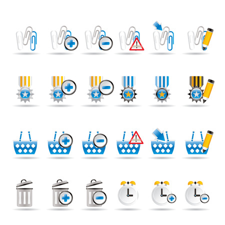 24 Business, office and website icons - icon set 1 Vector