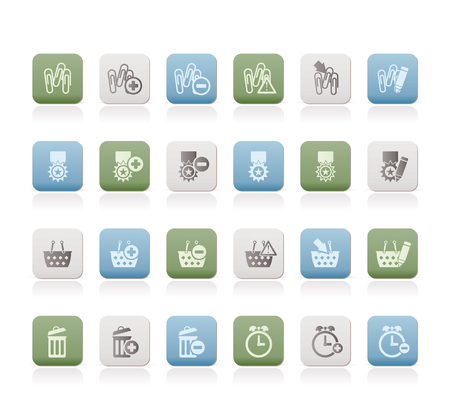 24 Business, office and website icons - icon set 1 Stock Vector - 7479228