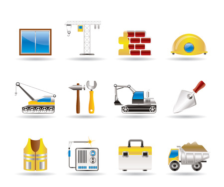 autotruck: building and construction icons - vector icon set Illustration