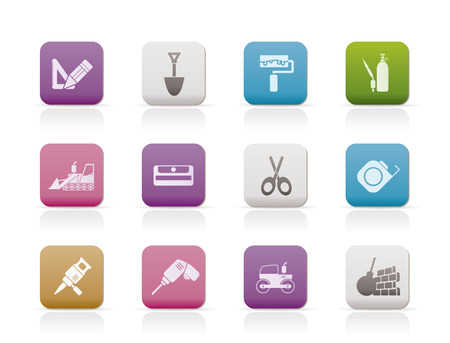 bagger: building and construction icons - vector icon set 2