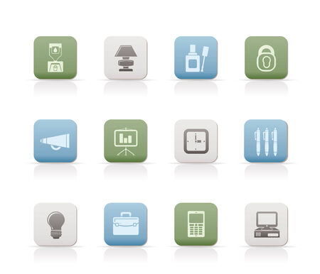 corrector: Business and office icons