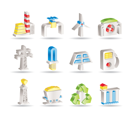 storehouse: Iconos de la industria de energ�a y electricidad  Vectores