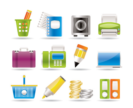Business, Office and Finance Icons  Stock Vector - 7629705