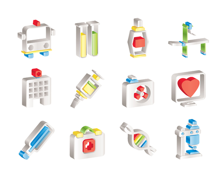 Medicine and healthcare icons  Stock Vector - 7629700