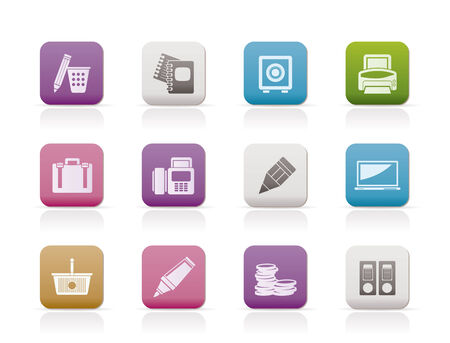 Business, Office and Finance Icons Stock Vector - 7701547