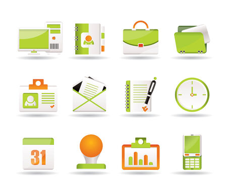 Web Applications,Business and Office icons Stock Vector - 7701560