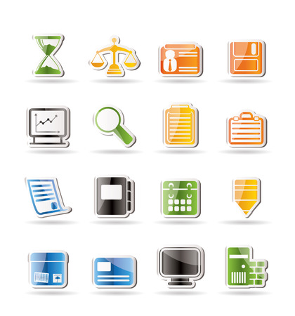 Simple Business and office Icons Stock Vector - 7701565
