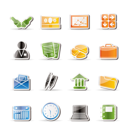 Simple Business and office icons Stock Vector - 7701564