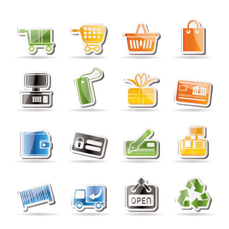 Simple Online Shop icons - Vector Icon Set Stock Vector - 7806109