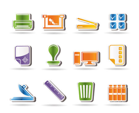 Print industry Icons - Vector icon set Vector