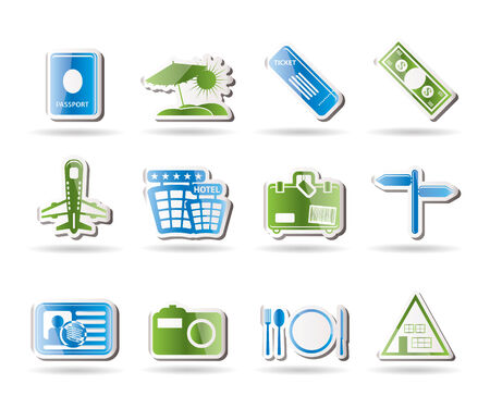 Simple Travel and trip Icons- Vector Icon Set Stock Vector - 7806096