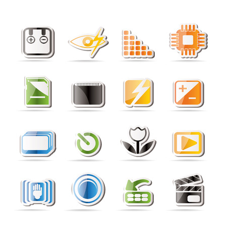 forced: Digital Camera  Performance - Vector Icon Set