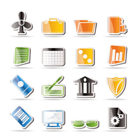 Simple Business and Office Icons - Vector Icon Set 2 Stock Vector - 7806099