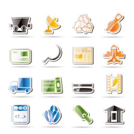Simple Business and industry icons - Vector Icon set 2 Stock Vector - 7806106