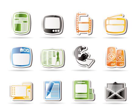 fashion week: Simple Media icons - Vector Icon Set Illustration