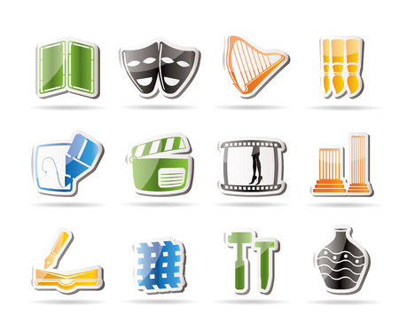 performing arts event: Different kind of Art Icons   Illustration