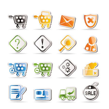 Online Shop Icons Stock Vector - 7816950