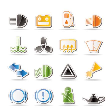 air pressure: Car Dashboard   Illustration