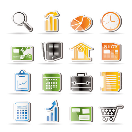 Business and Office Internet Icons Stock Vector - 7816966