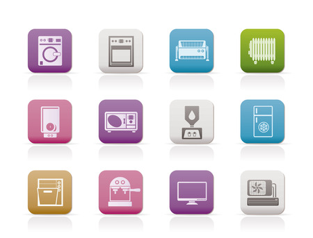 washing symbol: Home electronics and equipment icons