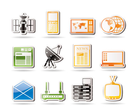 Simple Communication and Business Icons  Vector