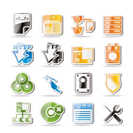 server side: Simple Server Side Computer icons   Illustration