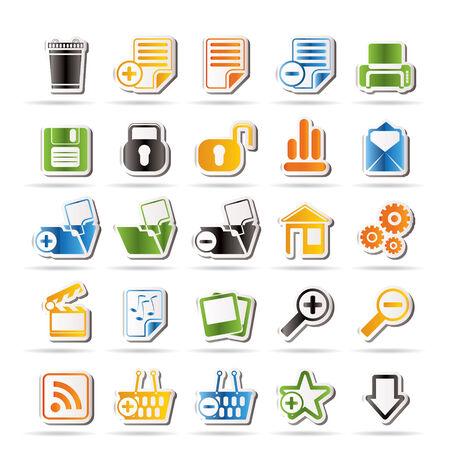 druckerei: 25 Einfache Realistic detaillierte Internet-Icons   Illustration