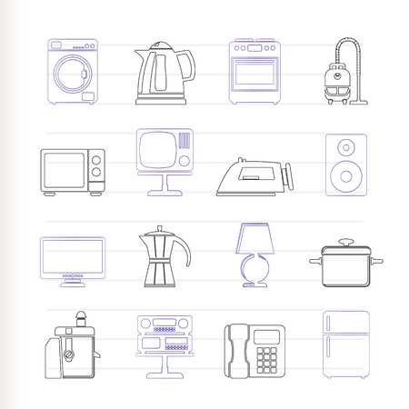 home equipment icons Stock Vector - 7816909