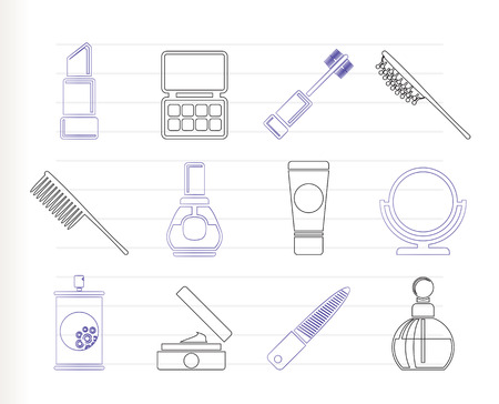 beauty, cosmetic and make-up icons   Vector