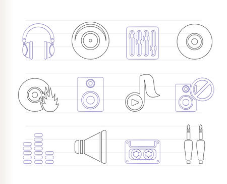 casette: Music and sound icons  Illustration
