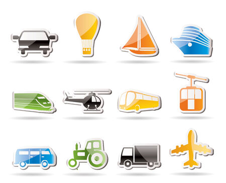 omnibus: Simple Transportation and travel icons  Illustration