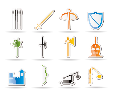 arbalest: Simple medieval arms and objects icons