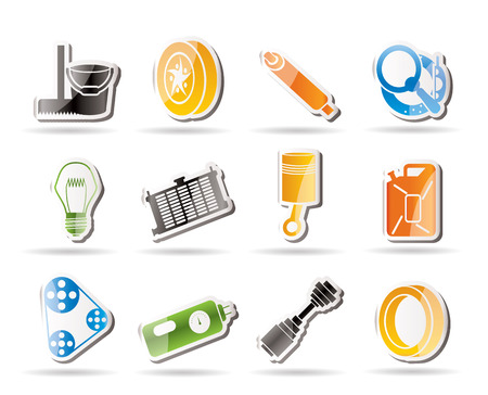Simple Car Parts and Services icons Stock Vector - 7816883