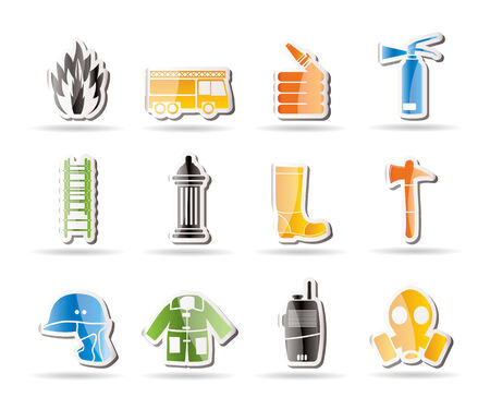fire escape: Simple fire-brigade and fireman equipment icon