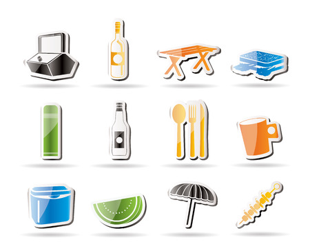 coldly: Simple Picnic and holiday icons