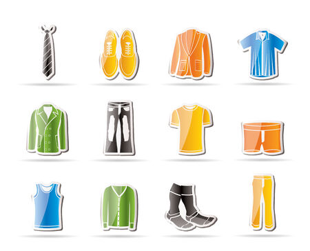 man fashion and clothes icons Stock Vector - 7816890