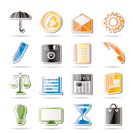 Simple Business and Office internet Icons  Stock Vector - 7816827