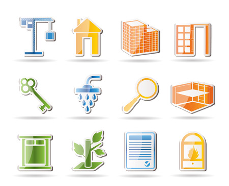 Simple Real Estate icons Stock Vector - 7816885