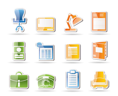 Simple Business, office and firm icons   Vector