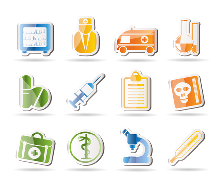 Medical and health care Icons Stock Vector - 7880221
