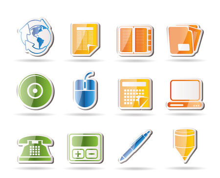 Business and Office tools icons Stock Vector - 7880219