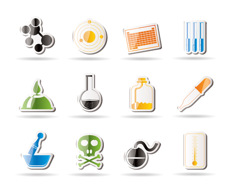 molecular science: Chemistry industry icons