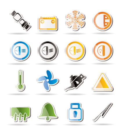 Car Dashboard icons Stock Vector - 7880243