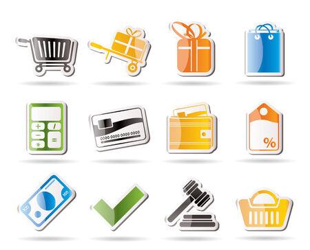 confirm: Online shop icons   Illustration